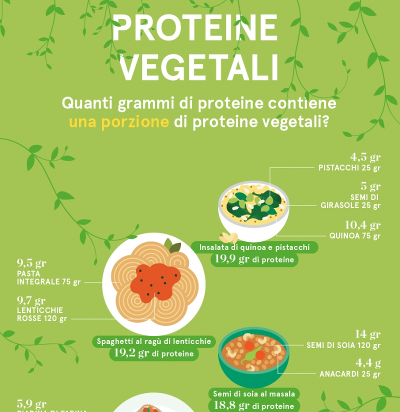 Quante proteine in un piatto a base vegetale?